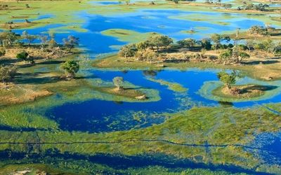 Water Arrives in the Desert in Botswana