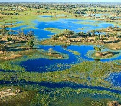 Water Arrives in the Desert in Botswana